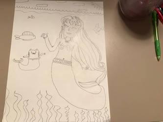Mermaid Drawing.