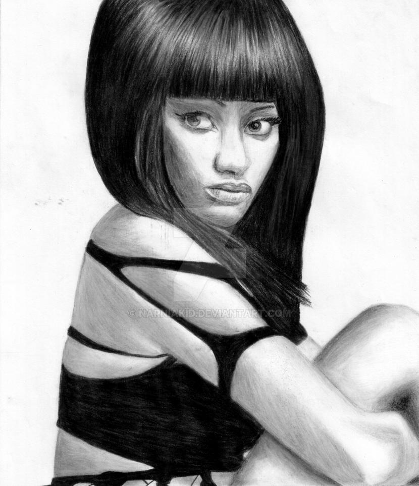 Nicki minaj drawing by narniakid on deviantart nicki minaj drawing by narniakid voltagebd Image collections