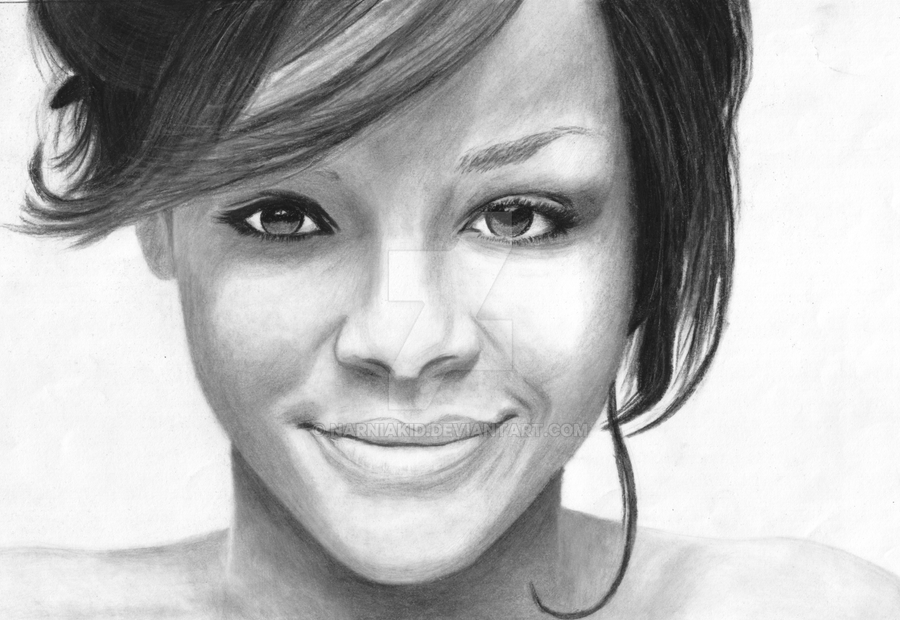 Rihanna Drawing by Narniakid
