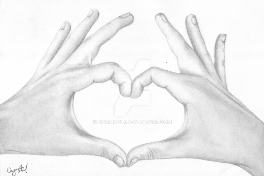 Heart Shaped Hands Drawing by Narniakid on DeviantArt