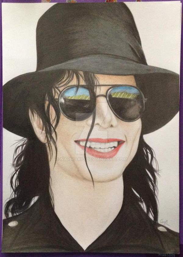 Michael Jackson Colour Drawing by Narniakid