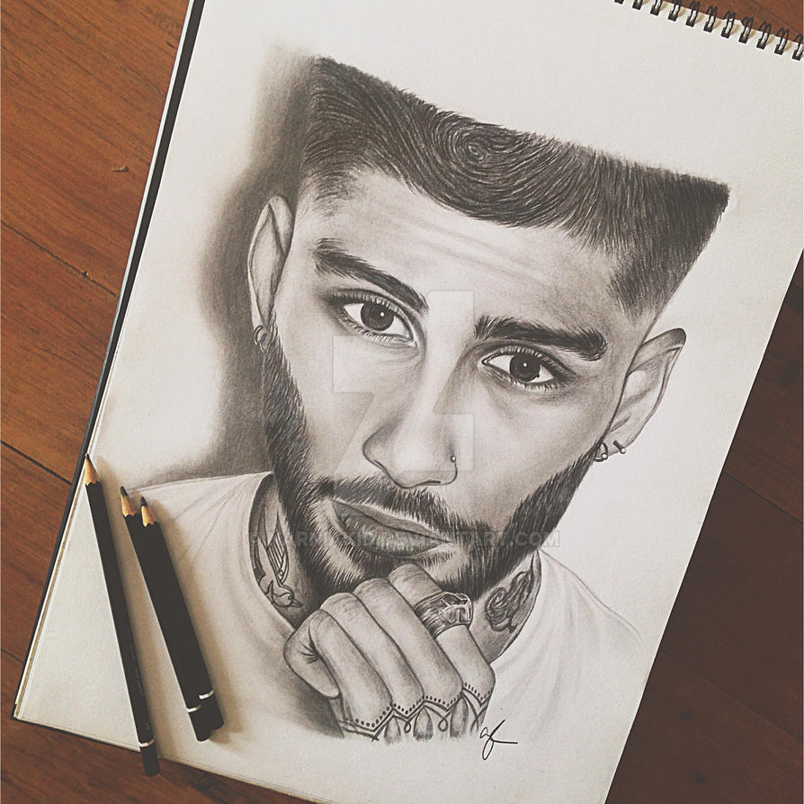Zayn malik pencil portrait by narniakid