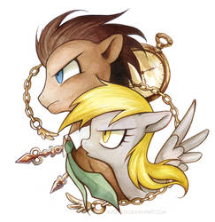 Dr. Whooves and Derpy