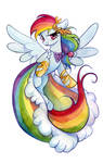 Rainbow Dash in a dress
