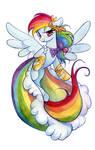 Rainbow Dash in a dress