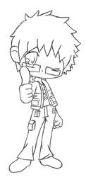 Fairy Tail Chibi - Loke by RebeccaProductions