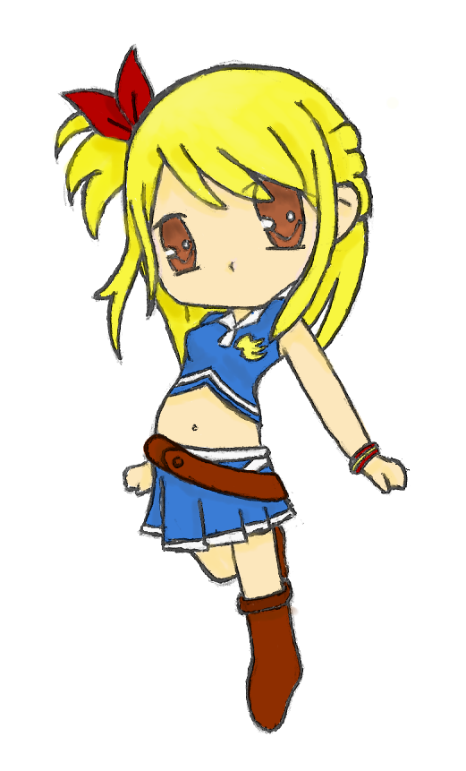 Fairy Tail - Lucy :Colour: by RebeccaProductions on DeviantArt