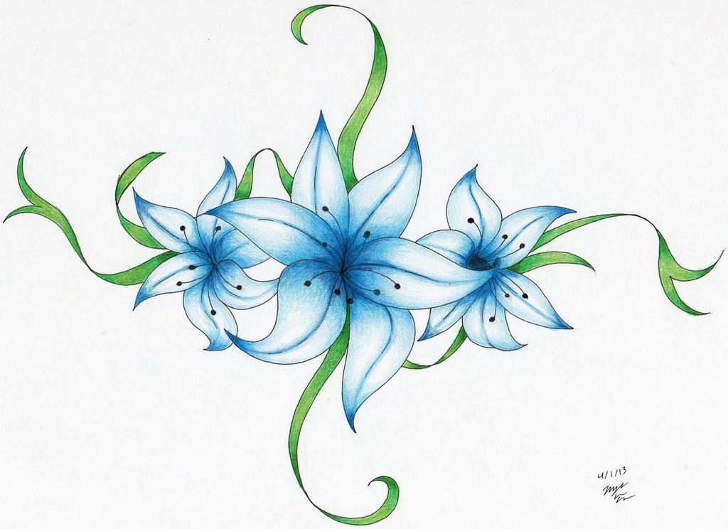 Color Flower Tattoo Design Www Pixshark Com Images