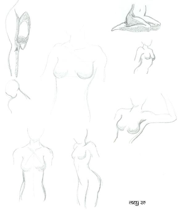 Bocetos de cuerpos by Arianrhod-Athdel