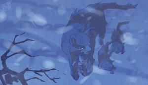 Bluefur (dashing through the snow)