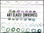 Art Class Line Brush Pack