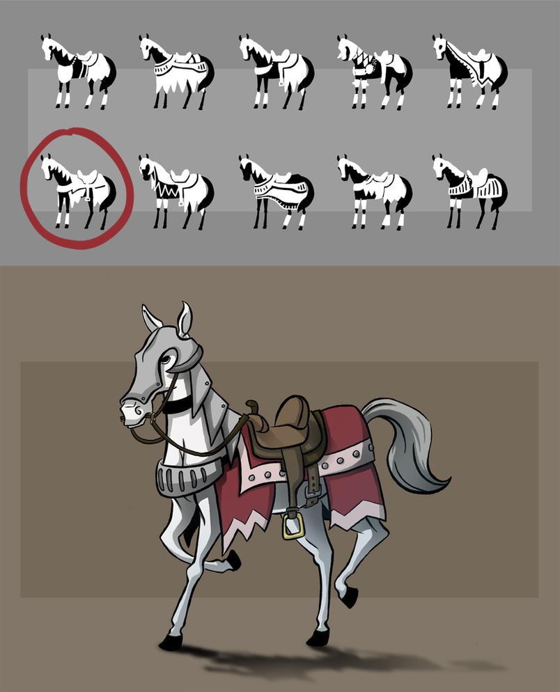 Eva's Horse by Blu-Hue