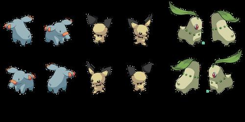 Isometric Pokemon spritesheet #1 by Nebaku