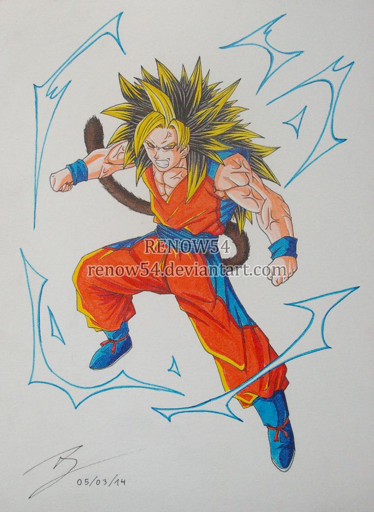 Goku Super Saiyan 5 Colored (Dragon Ball New Age) by Renow54