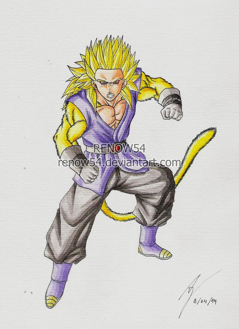 Son gohan super saiyan 4 dragon ball neogt by renow54 on deviantart - Dragon ball gohan super saiyan 4 ...