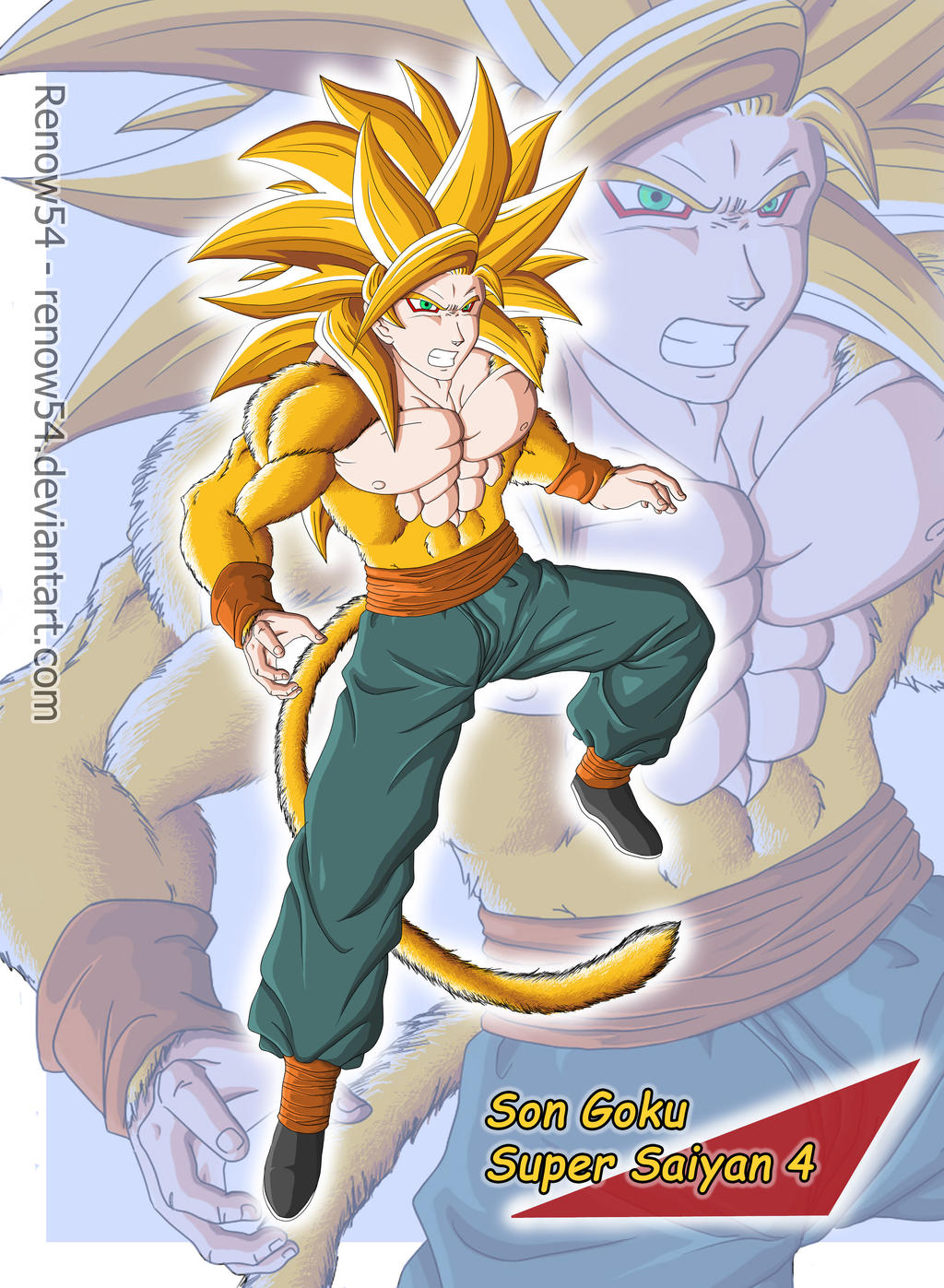 DBNGT Card - Son Goku SSJ4 by Renow54