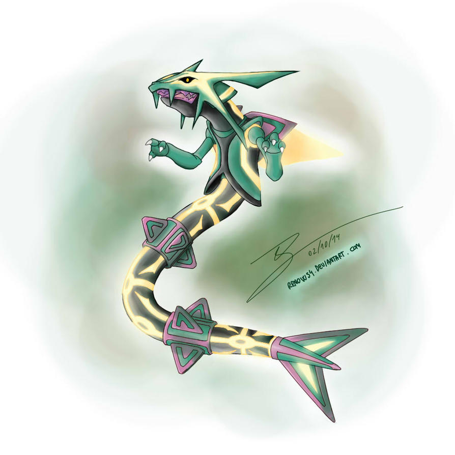 how to draw primal rayquaza