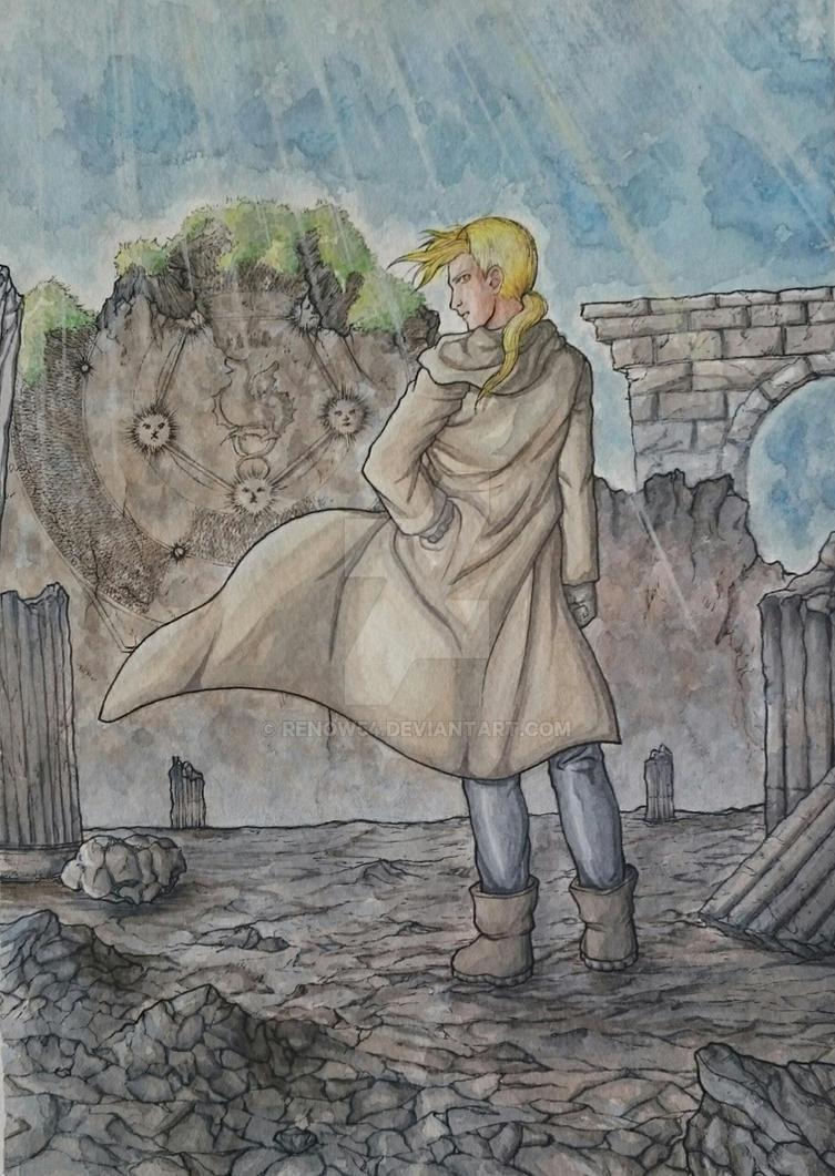 Fullmetal Alchemist - Edward Elric on Xerxes by Renow54