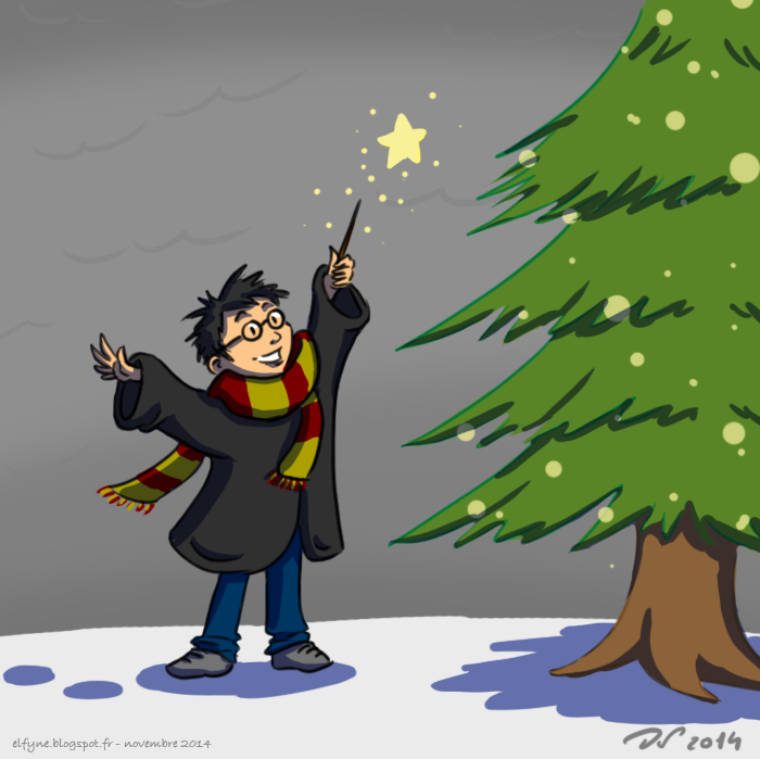 Harry Potter et le sapin by ElfyneInWonderland