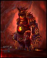 Fire colossus by TagoVanTor