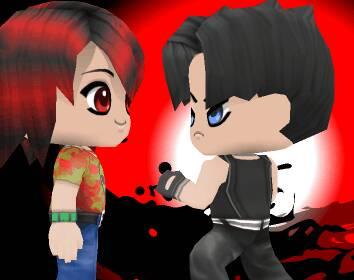 Andy punching Dahvie by Tokiogirl21