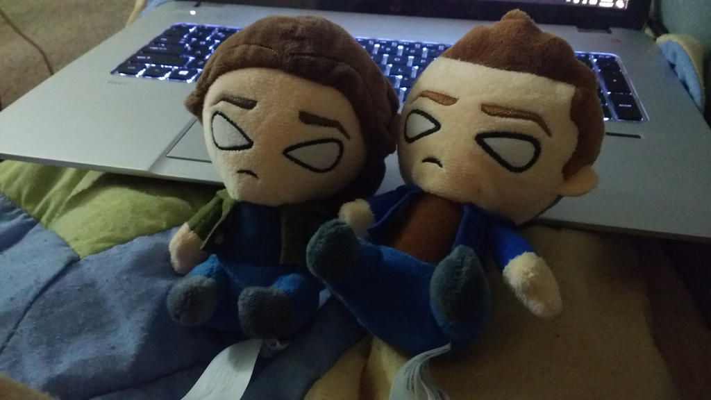 Supernatural plushies- Little Winchesters by Tokiogirl21
