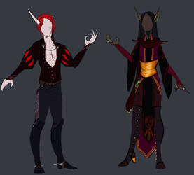 Outfits - Lysuath and Sal'danis