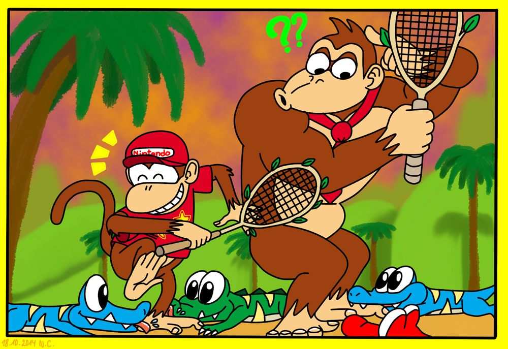 Super Mario Power Tennis: Klaptraps! by LazyAsHell