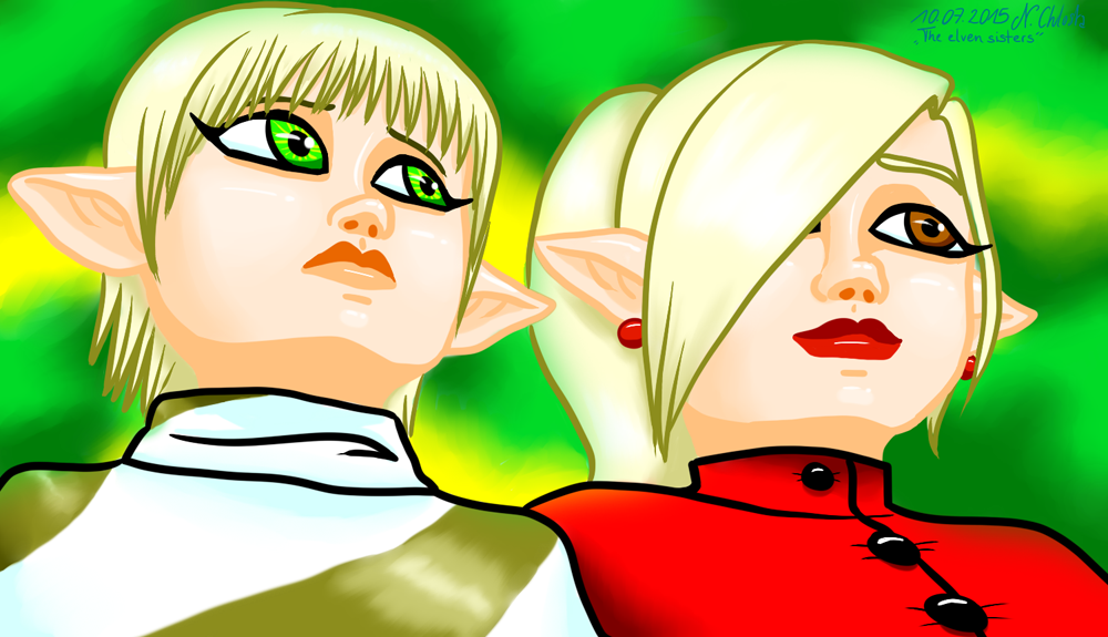 The elven sisters by LazyAsHell