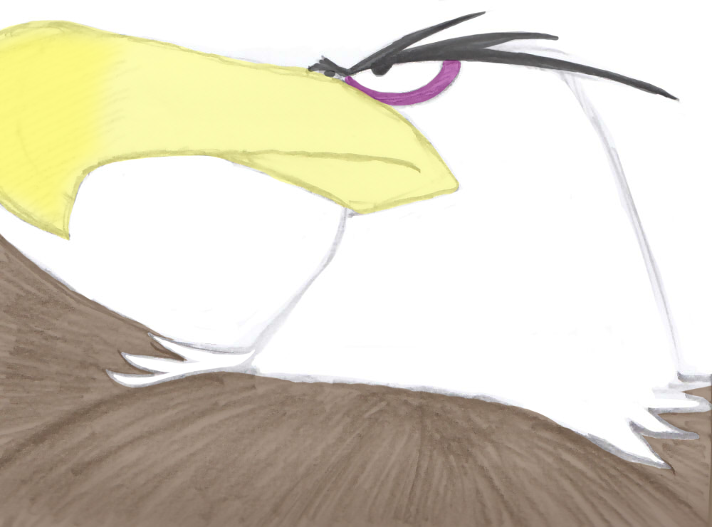 Another Mighty Eagle fanart doodle by NatalieTheAntihero