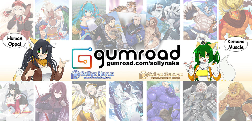 My Gumroad! Update! by Sollyz