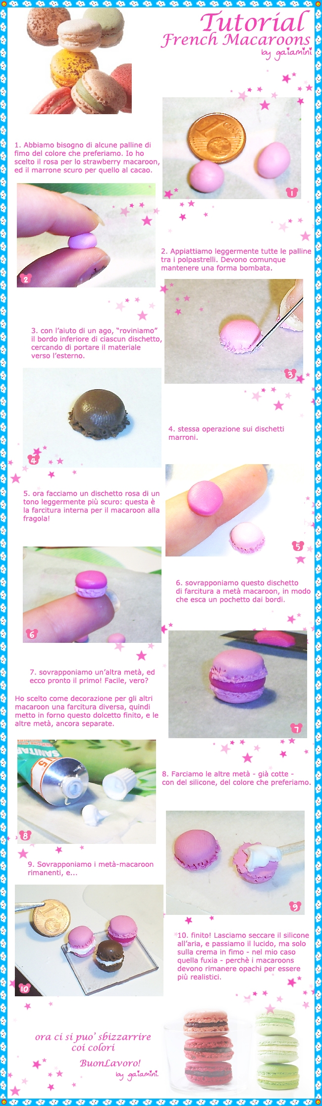 tutorial 3 - french macaroons by gaiamini