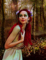 Rusalka sends the dryad on her way. by CouchyCreature