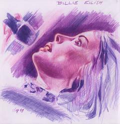 Billie Eilish Coloured Pencil Drawing WIP