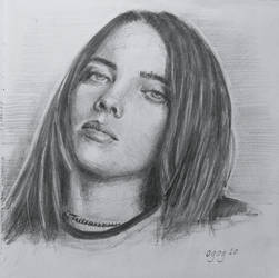 Pencil Study Billie Eilish