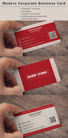 Modern Corporate Business Card Template by maruf1