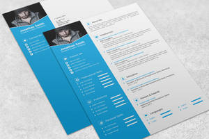 Modern Resume Template by maruf1