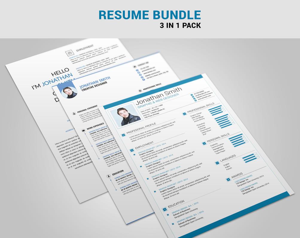 Resume Bundle By Maruf1 On Deviantart