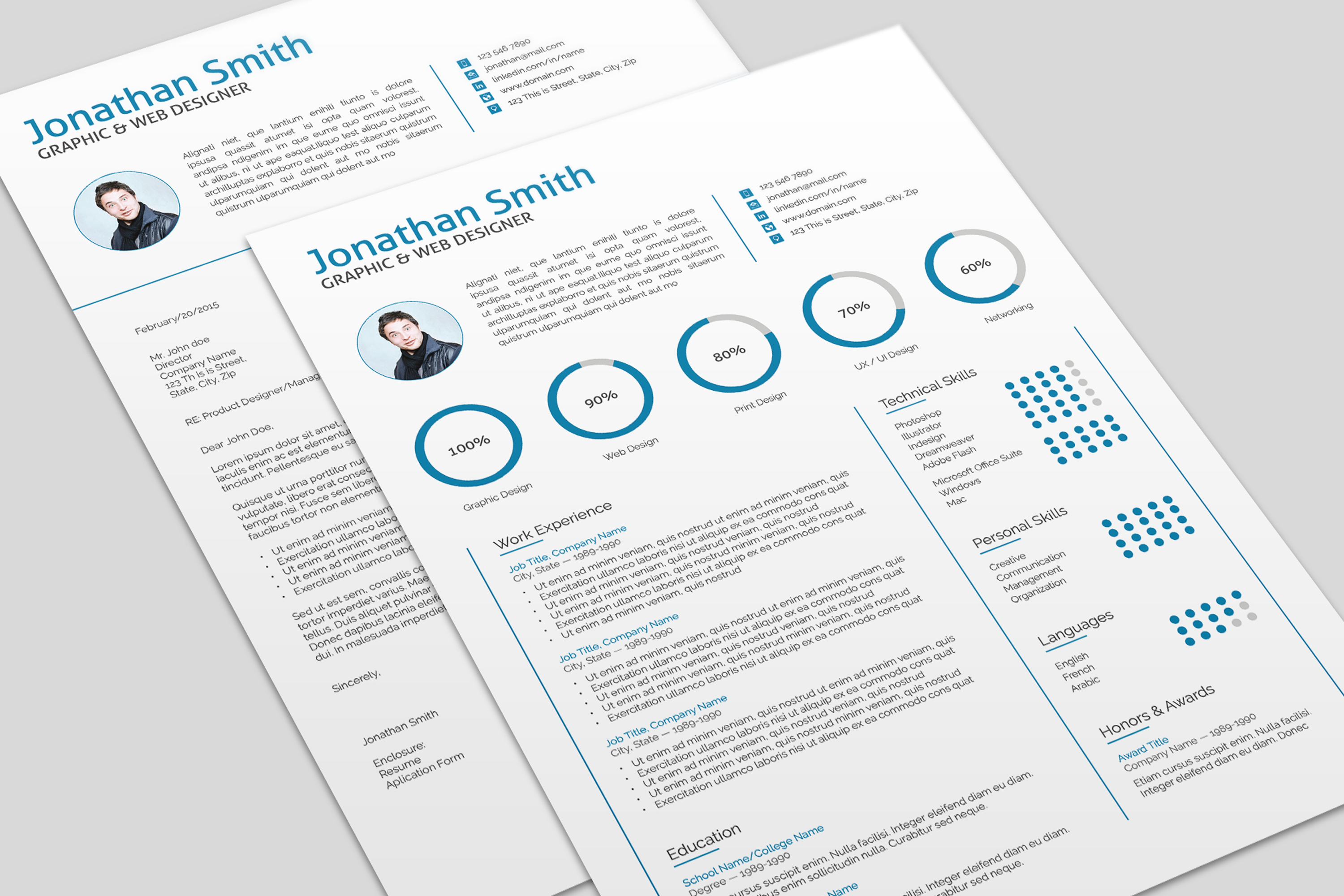 Modern two page resume templates indesign boatremyeaton modern two page resume templates indesign maxwellsz