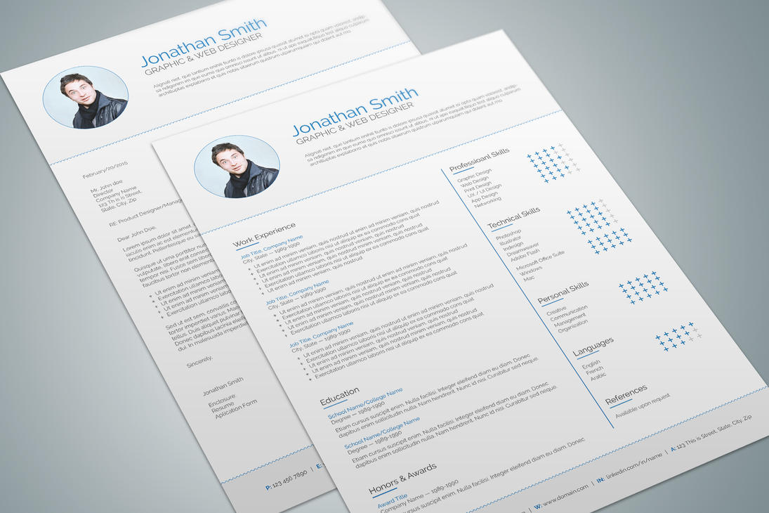 Modern Resume Template   By Maruf On Deviantart