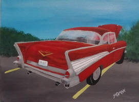 57 Chevy 7.28.19 My original acrylic painting