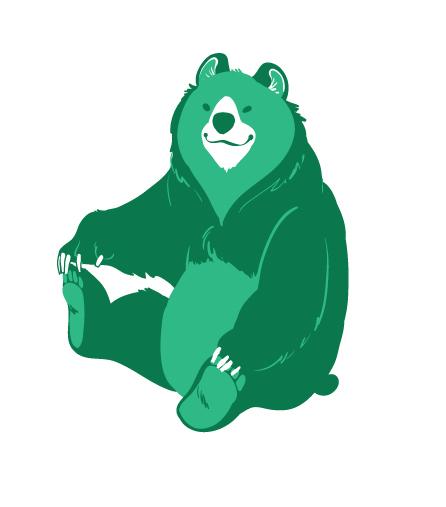 Screenprintable grizzly by chibighibli