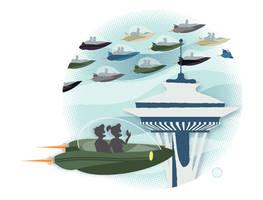 Jetson's Seattle by chibighibli