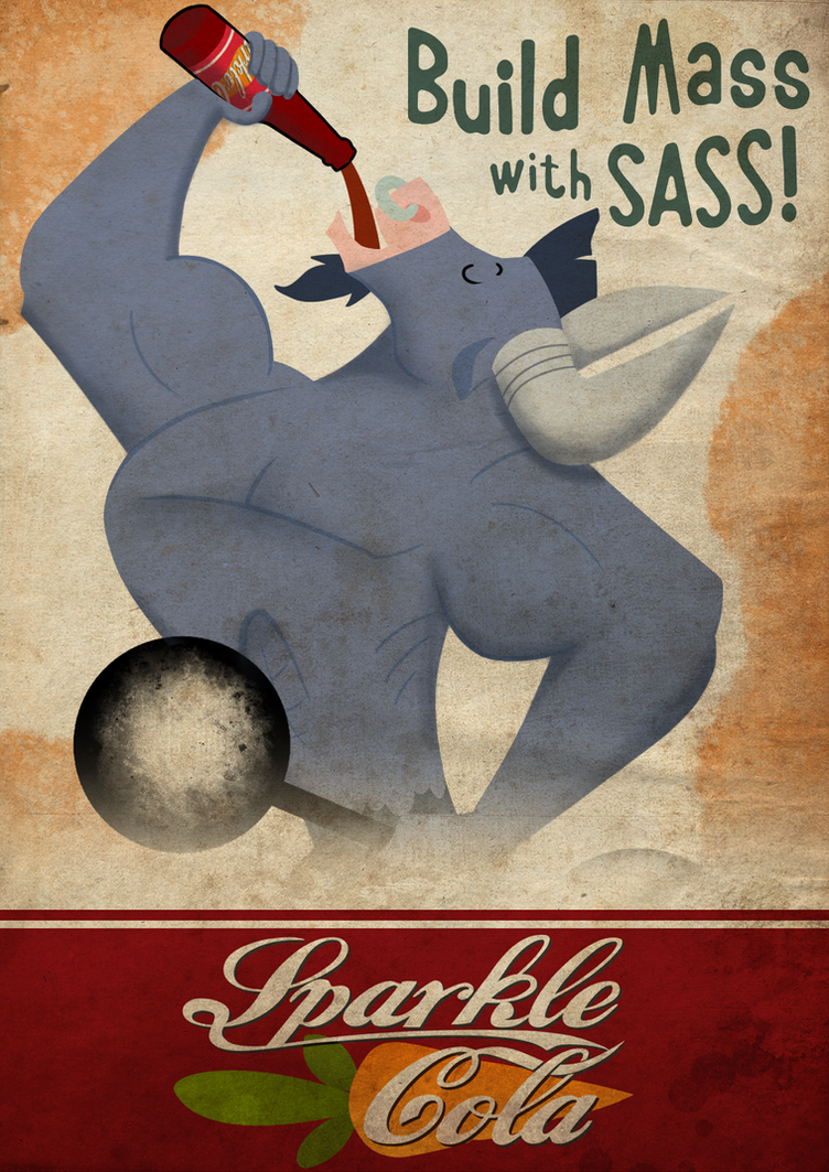 Sparkle Cola Poster - Iron Will Grundgy by Avastindy