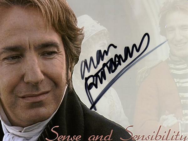 Alan Rickman autograph by queenseptienna
