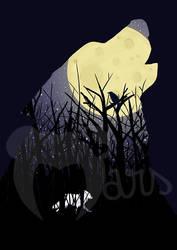 Le loup de la lune by the-marou