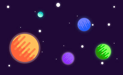 Planets: Flat Design