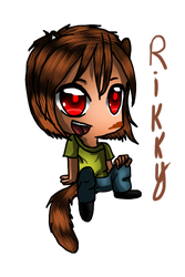Rikky the mongoose (chibi) by Demonic-stickfigures