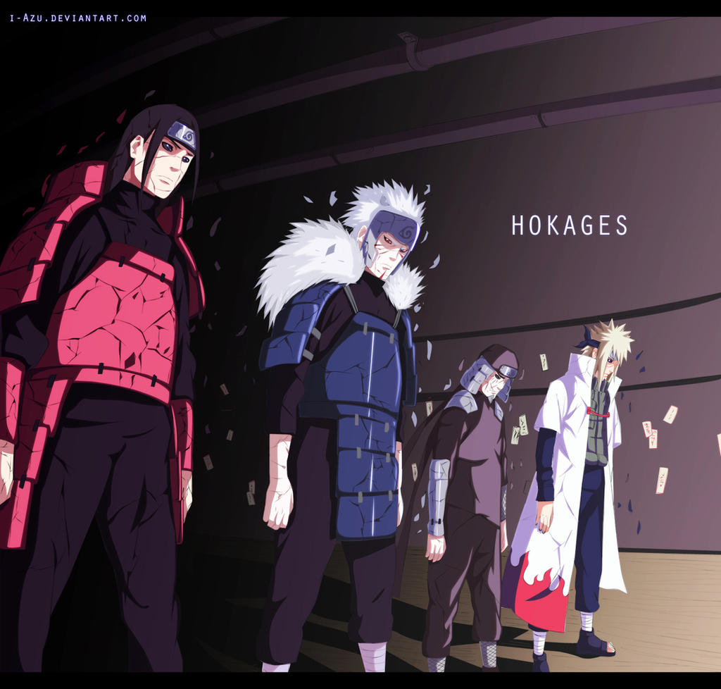Naruto 618 kages by i-azu