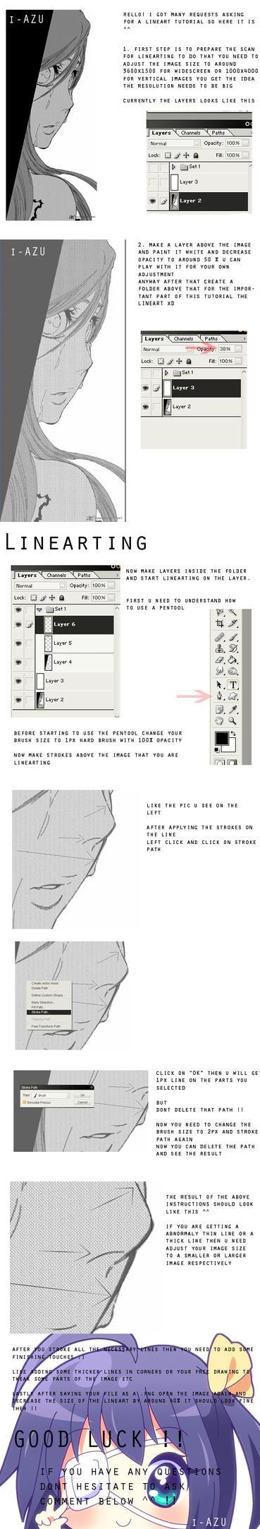 Lineart Tutorial by i-azu